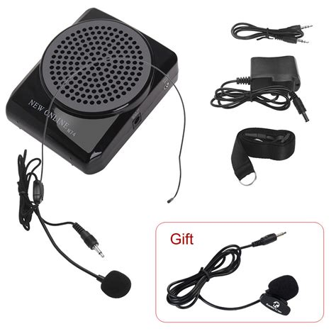 Portable Audio Waist Band Microphone Digital R Promo portable audio voice power lifier waistband microphone speaker n74 for for tour guides