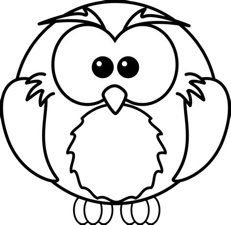 printable owl to color baby owls coloring sheet to print