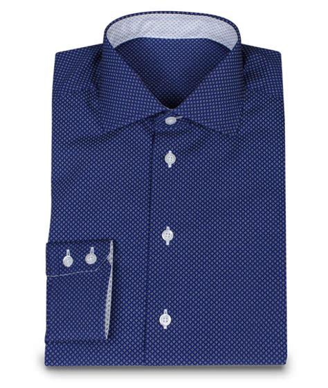 Custom Made Shirts Blue Custom Made Shirt With White Dots Custom Made