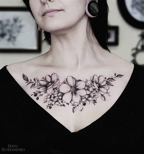 flower chest tattoos 30 chest tattoos for that draw approving ritely