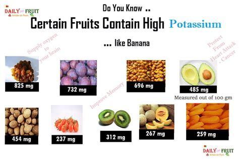 fruit high in potassium top 15 fruits with high potassium dailyonefruit