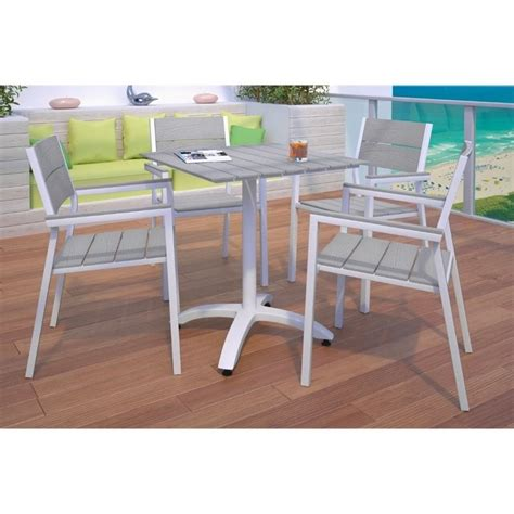 White Patio Dining Set Modway Maine 5 Outdoor Patio Dining Set In White And Light Gray Eei 1761 Whi Lgr Set