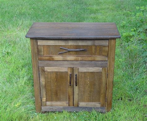 Handmade Reclaimed Furniture - custom reclaimed chestnut cabinet by custom rustic