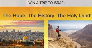 Israel Sweepstakes - cbn win a 8 000 trip for two to tour israel from educational op giveawayus com