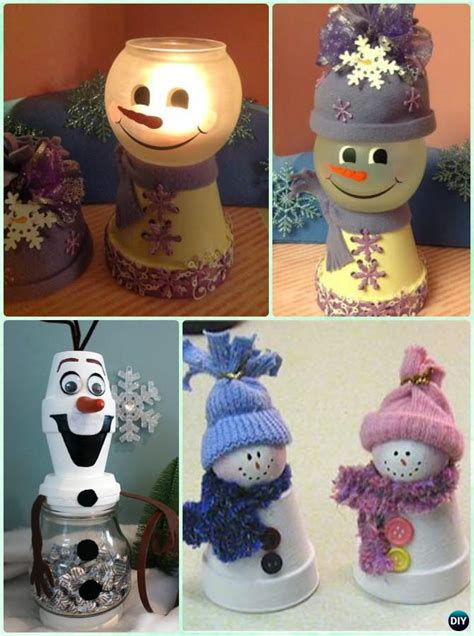 diy clay pot christmas craft ideas holiday decoration