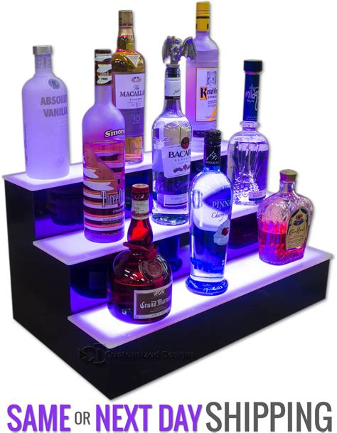 Bar Display Rack by 34 Quot 3 Tier Bottle Display Rack Led Illuminated Bar