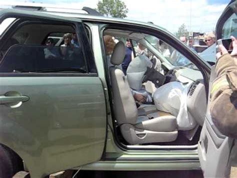 ford escape passenger seat airbag deployed ron moore extrication demo youtube