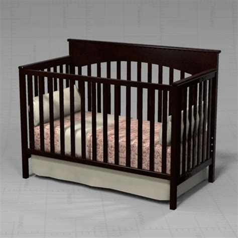 graco crib 3d model formfonts 3d models textures