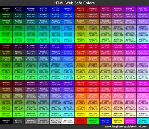 Web Safe Colors Color Code In Web Pages