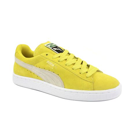 yellow sneaker suede classic unisex trainers shoes grey pink blue