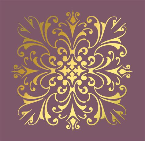 wall pattern template large wall damask stencil pattern faux mural 1020 ebay