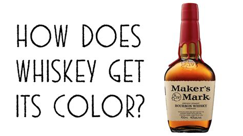 how does whiskey get its color