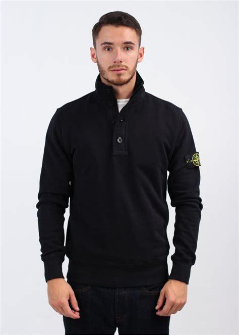buttoned sweatshirt island button sweatshirt navy