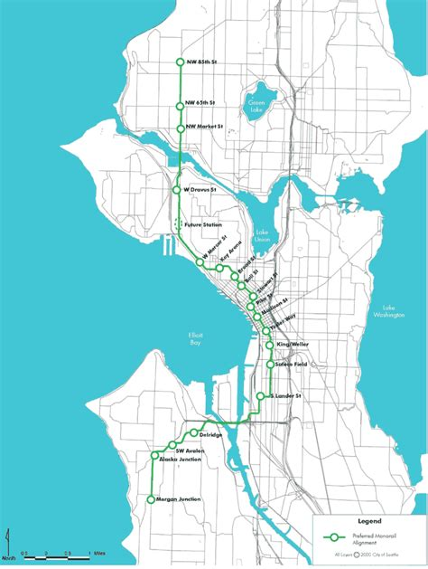 seattle map monorail seattle monorail map my