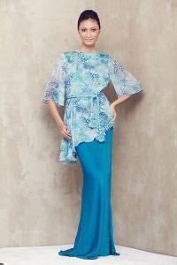Baju Muslim C Nel asymmetrical baju kurung with rope belt turqoise raya