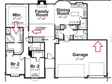 4 bedroom 3 bath floor plans bedroom 3 bath house plans
