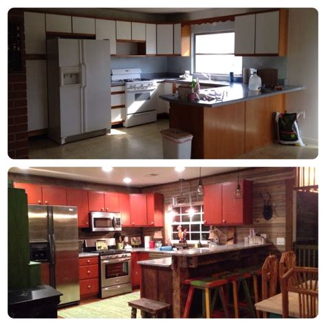 before and after rust oleum cabinet transformations color