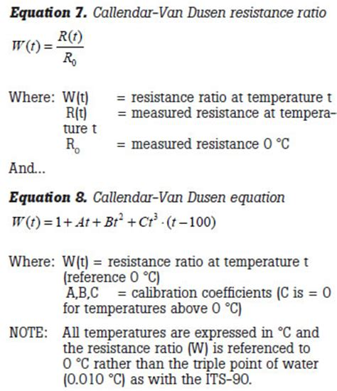 resistor temperature equation innocal solutions how to calibrate an rtd or platinum resistance thermometer