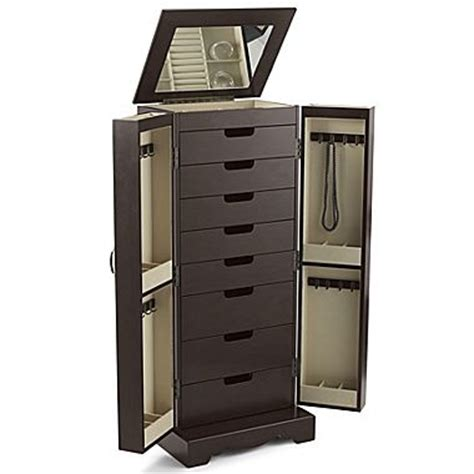 jewelry armoire at jcpenney antique walnut finish mirror front jewelry armoire