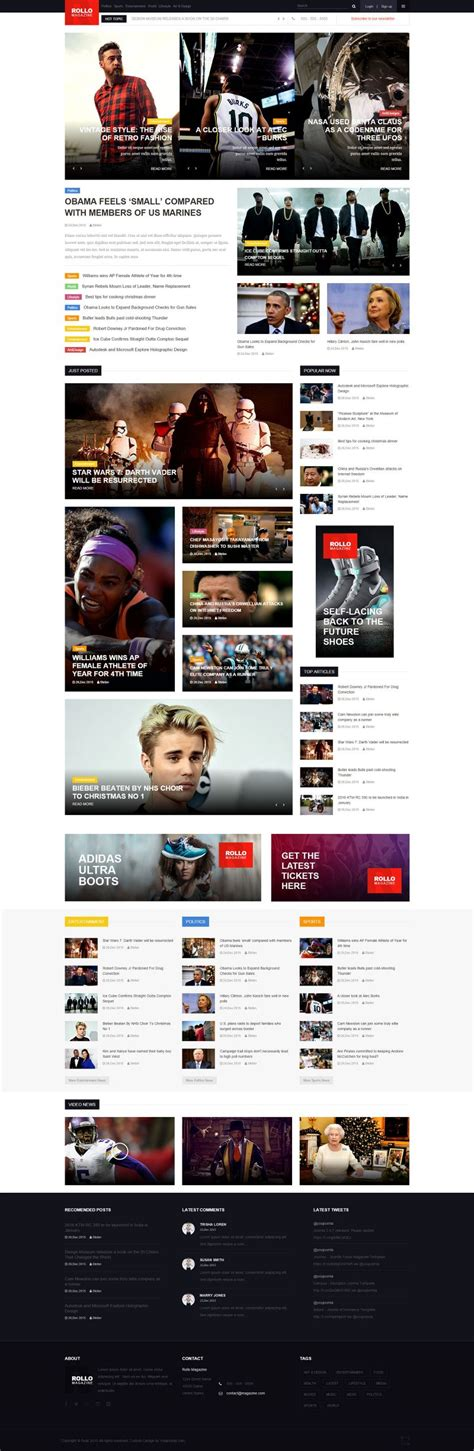 download themes joomla rollo news magazine joomla template