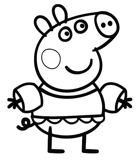 peppa pig coloring pages printable pdf coloring pages free coloring pages of peppa pigs dinosaur