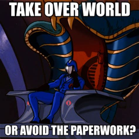 Cobra Commander Meme - buy g i joe s secret headquarters for 27 million