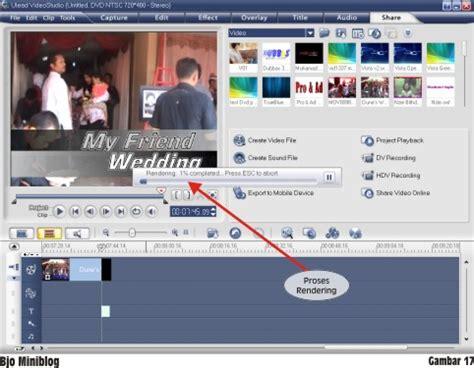 tutorial edit video dengan ulead belajar mengedit video