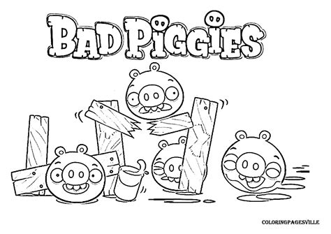 Angry Birds Bad Piggies Coloring Pages | bad piggies coloring page angry birds papercraft