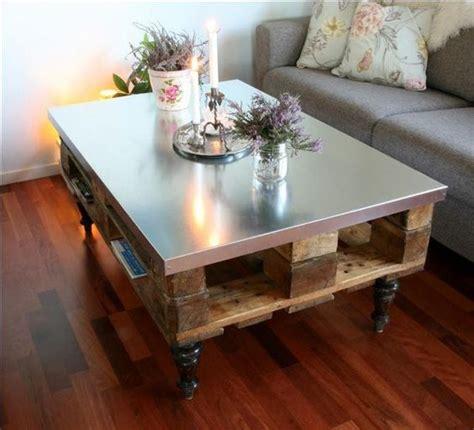 Table Basse Palette Verre