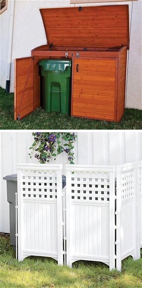 cheap curb appeal ideas 17 keep those trash cans 17 impressive curb