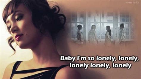 ailee lonely by 2ne1 lonely 2ne1 dia frton cover with lyrics