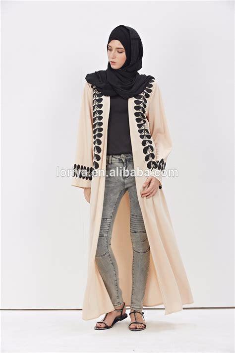 Kimono New Hijaber Style Kekinian Murah plus size arabic open abaya design fashion kuwaiti kimono abaya 2016 new design dubai buy plus
