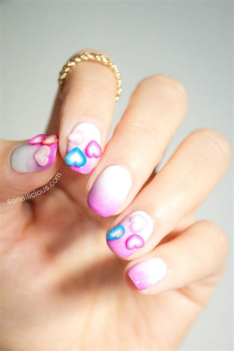 simple valentines day nails easy s day nails with hearts and the