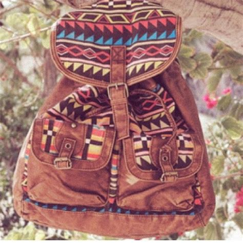 tribal pattern rucksack ecote patterned canvas backpack urban outfitters