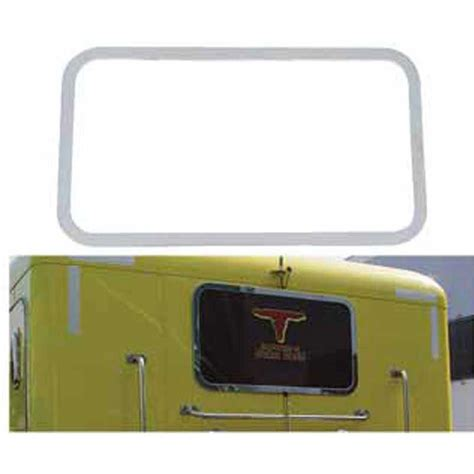 Peterbilt Sleeper Window by Big Rig Chrome Shop Semi Truck Chrome Shop Truck