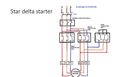 draw the schematic diagram of dol starter circuit and