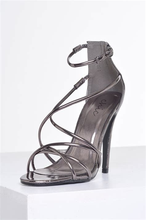 Sandal Crome no doubt lilly strappy sandals in chrome iclothing