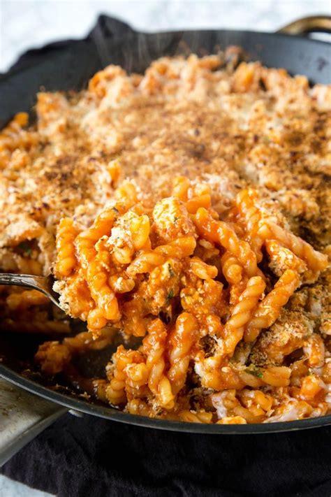 chicken parmesan pasta skillet   dinner