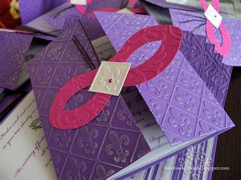 Handmade Masquerade Invitations - masquerade invitations pink purple silver masquerade