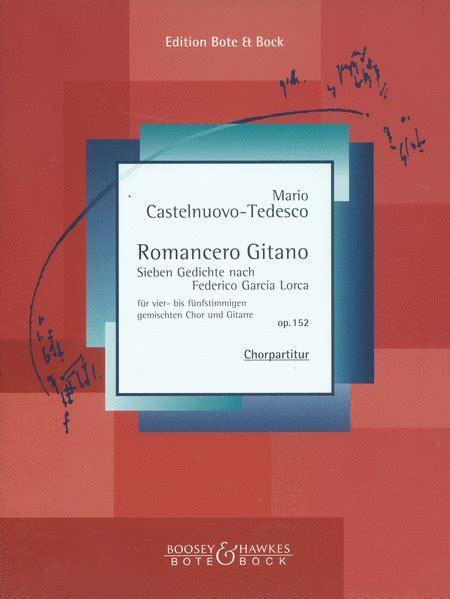 romancero gitano romancero gitano op 152 sheet music by mario castelnuovo tedesco sheet music plus