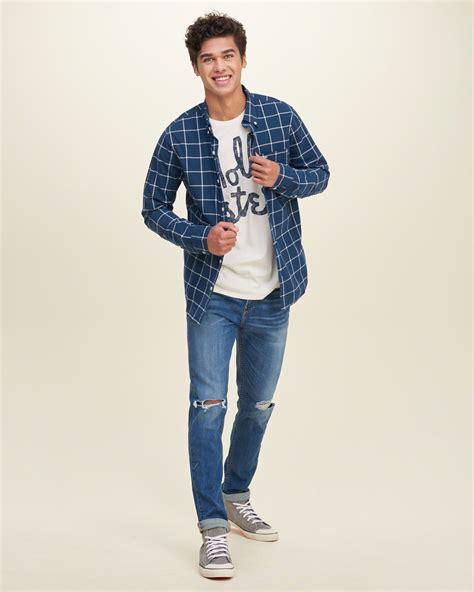 camisas de hombre de cuadros moda camisas hombre 2016 cuadros escocesa popelina