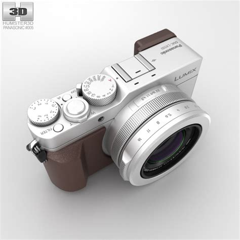Panasonic Lumix Dmc Lx100 Kamera Mirrorless Silver panasonic lumix dmc lx100 silver 3d model hum3d