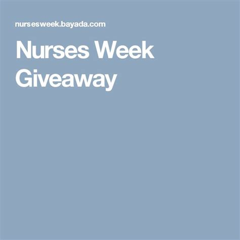 Nurses Week Giveaways - best 25 nurses week 2017 ideas on pinterest nurses week ideas nurse appreciation