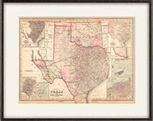 Texas Decor For Home texas state map print map vintage old maps antique prints