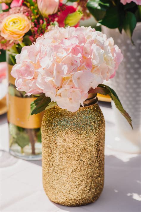 Decorations For Welcome Home Baby by Gold Glitter Mason Jar Quart Sized Glitter By Romanticsouthern