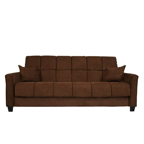 wallmart sofa baja convert a couch sofa sleeper dark brown walmart com