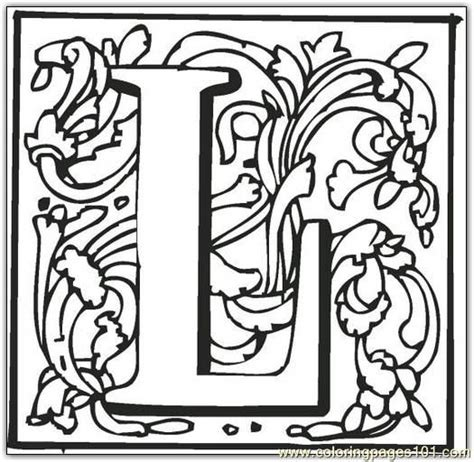Alphabet L Coloring Pages by L Coloring Page Free Alphabets Coloring Pages