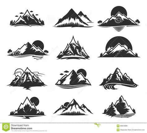 vector mountains forest with fog background seamless