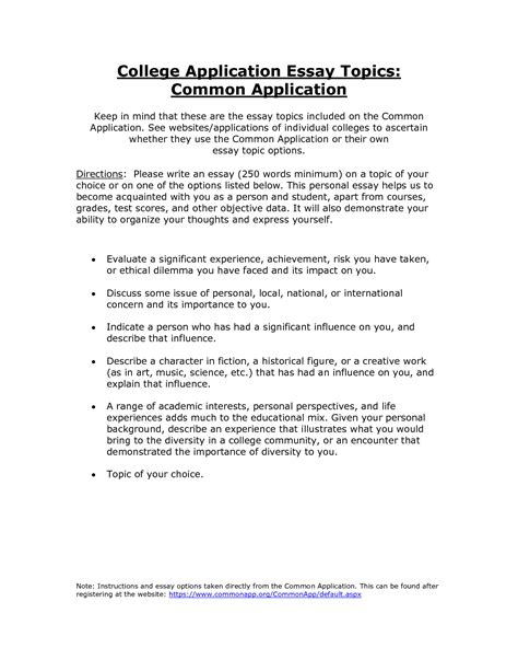 Tcu Essay Questions 2015 by Common App Essay Topics 2015 College Application Essay