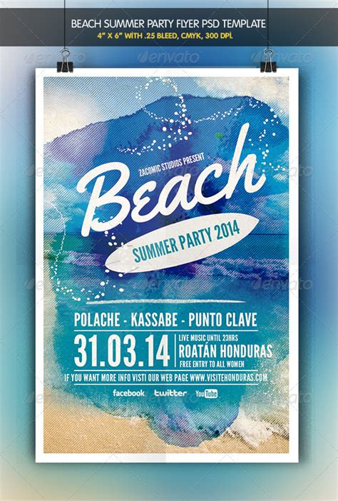 template flyer beach beach party flyer template party flyer flyer template